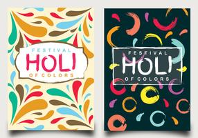 Holi Festival of Colors Poster Design vector