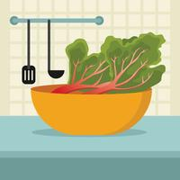 Fresh Rhubarb Vector Illustration