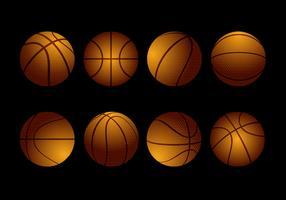 Free Textured Basketball Collection Vector