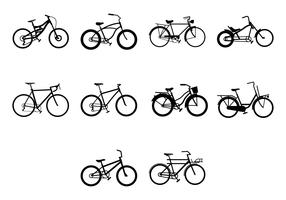 Gratis fiets pictogram vector