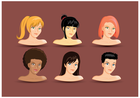 Free Female Headshots Vector