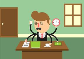 Multitasking Stressed Business Man