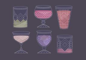Vector Mocktail Glasses
