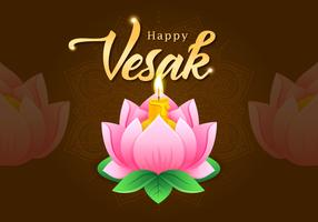 Vesak Greetings Lotus Flower