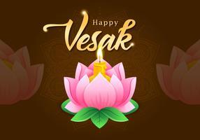 Vesak Greetings Lotus Flower