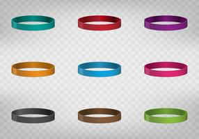 Multicolored Rubber Wristband