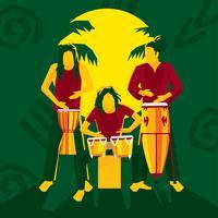Vector libre de bongo drums