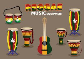 Custom Reggae Music Equipment vector