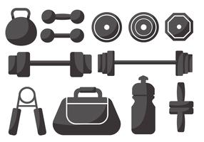 Free Weight Lifting Icons Vector