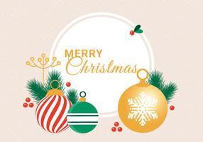 Tarjeta de felicitación de vacaciones de invierno Vector diseño plano gratis