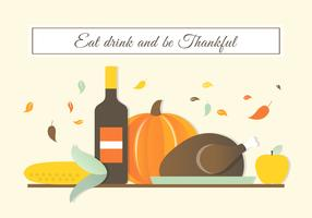 Freier Autumn Thanksgiving Vector Background