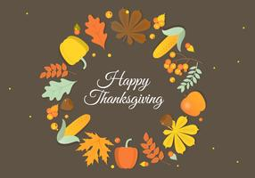 Autumn Thanksgiving Vector Background