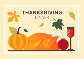 Gratis Thanksgiving diner vector-elementen