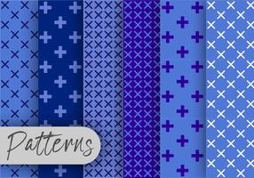 Geometric Blue Pattern set  vector