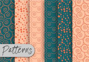 Green And Orange Pattern Set