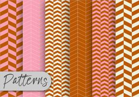 Brown And Pink Pattern Set