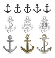 Different Style Of Anchor Illustration vector