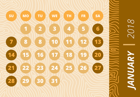 Monthly Calendar Wood Background vector