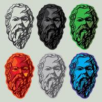 Sokrates Line Art