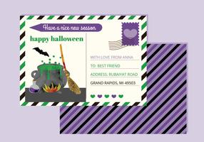 Vector Halloween Postcard