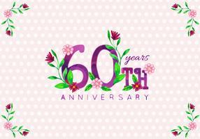Vecteur gratuit 60e anniversaire