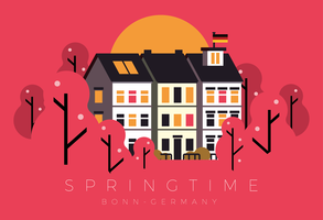 Springtime Bonn Germany Postcard