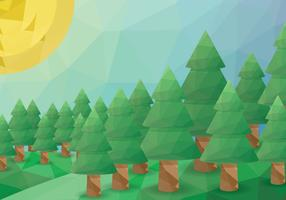 Low poly forest vector
