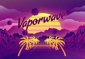 Illustration de fond Vaporwave