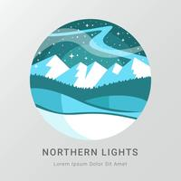 Nothern Light in Circle Vector