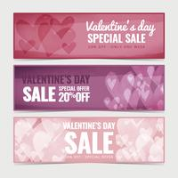 Vector Valentine's Day Watercolor Sale Banners