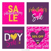 Valentines Day Sale Vector Cards