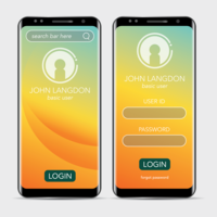 Clean Minimalism Landing page e Login page per Mobile Application
