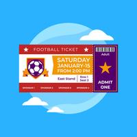 Football Ticket vector