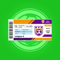 Soccer Ticket vector