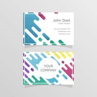Flat Designer Business Card Vector Template