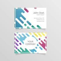Plantilla de vector de tarjeta de visita de diseñador plano