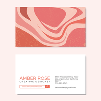 Beautiful Peach Texture Graphic Design Business Card