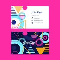 Graphic Design Business Card Template vector