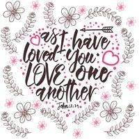 Love One Another Typography