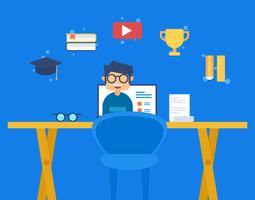 Iconic E-Learning Vectors