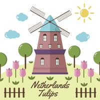 Vetor da tulipa holandesa