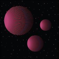 Retro Vintage 80s Geometrisk stil Abstrakt bakgrund
