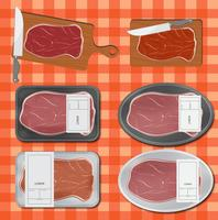 Veal packaging vector
