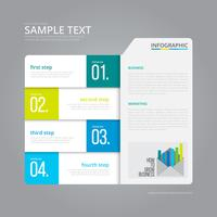 Vector Infographic Index Paper with Grey Background Template.
