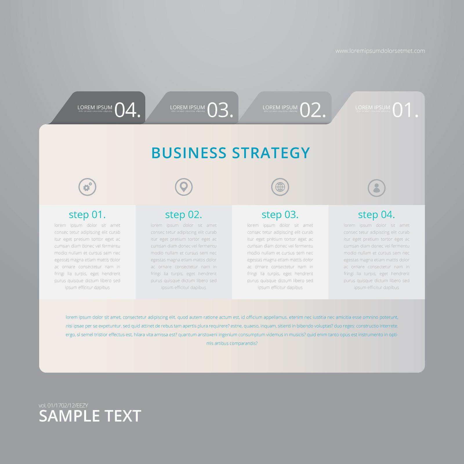 Vector de papel de índice infografía con plantilla de fondo negro ...
