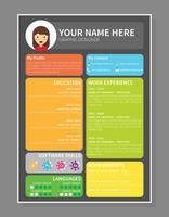 Colourfull Graphic Designer Resume Template