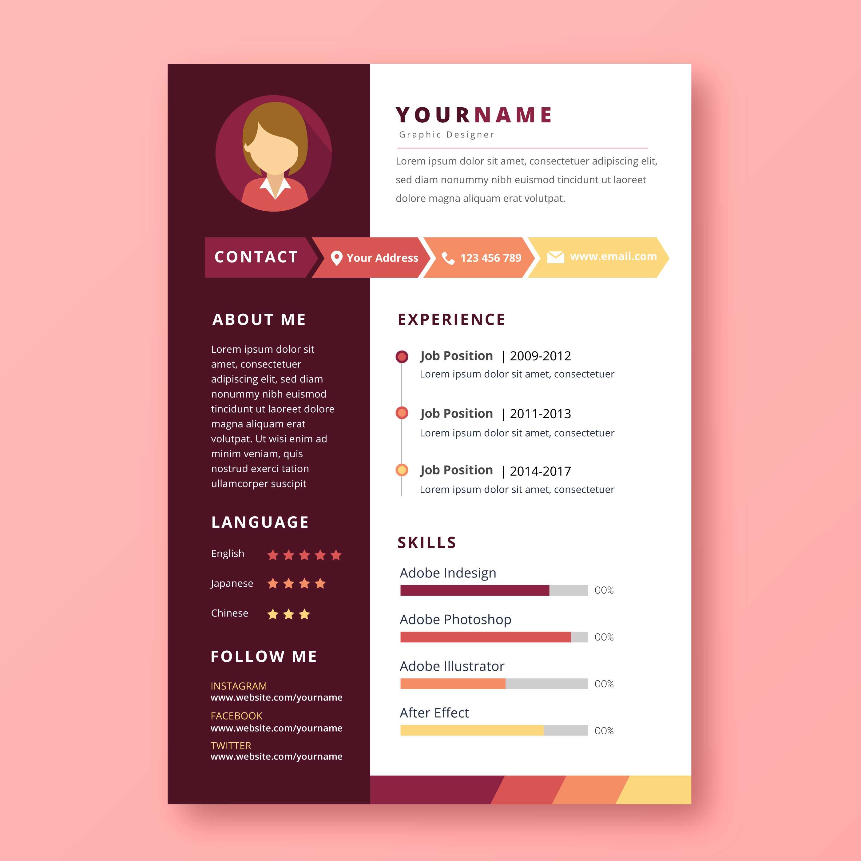 Graphic Designer Resume Download Free Vectors Clipart Graphics