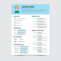 Graphic Designer Resume Vector