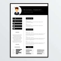 Corporate Resume-Vorlage Vektor