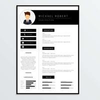 Corporate Resume Template Vector
